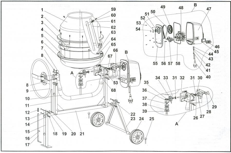 Инструкция LEGO 60018 Cement Mixer Бетономешалка